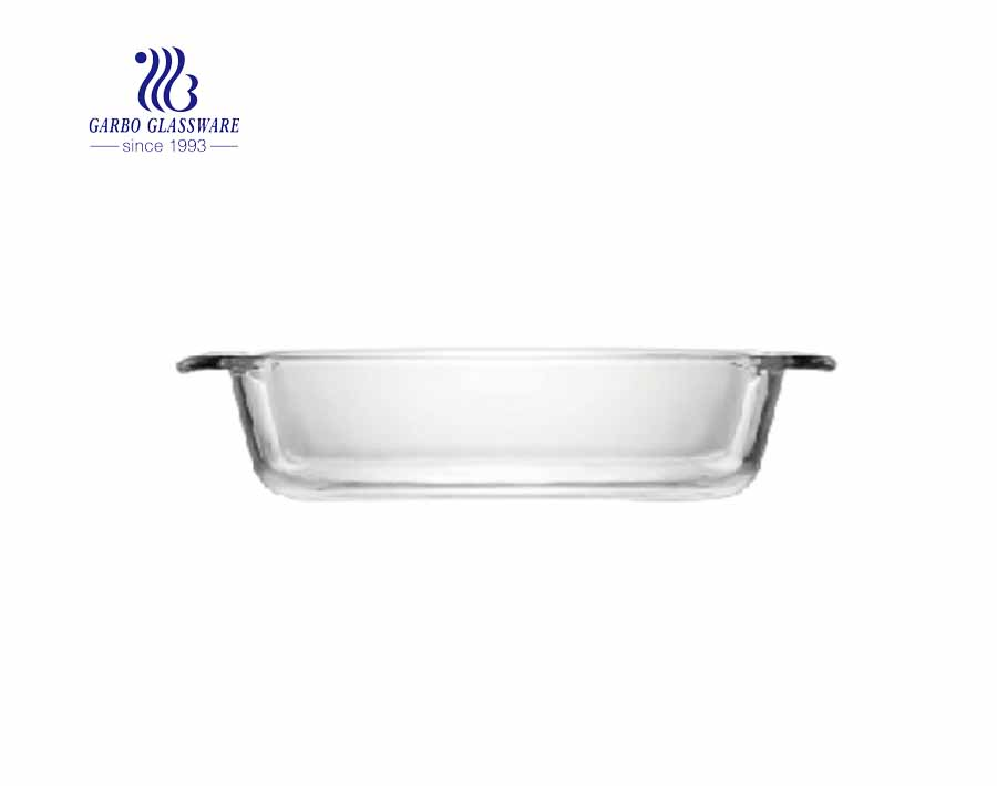 Wholesale 2050ml Baking Dish Borosilicate Glass Baking Pan Bakeware