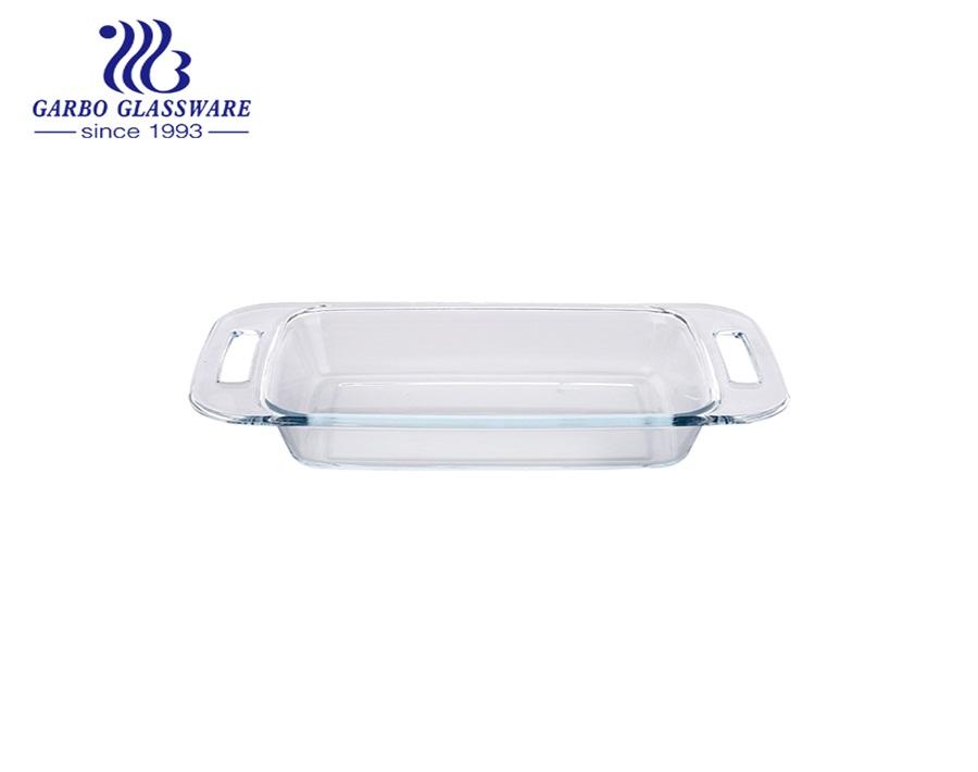 Wholesale 2050ml Baking Dish Borosilicate Glass Baking Pan Bakeware