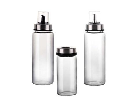 Proveedor de fábrica de China 200ml / 325ml Botella de vidrio de vinagre de aceite con tapa y vertido de plástico