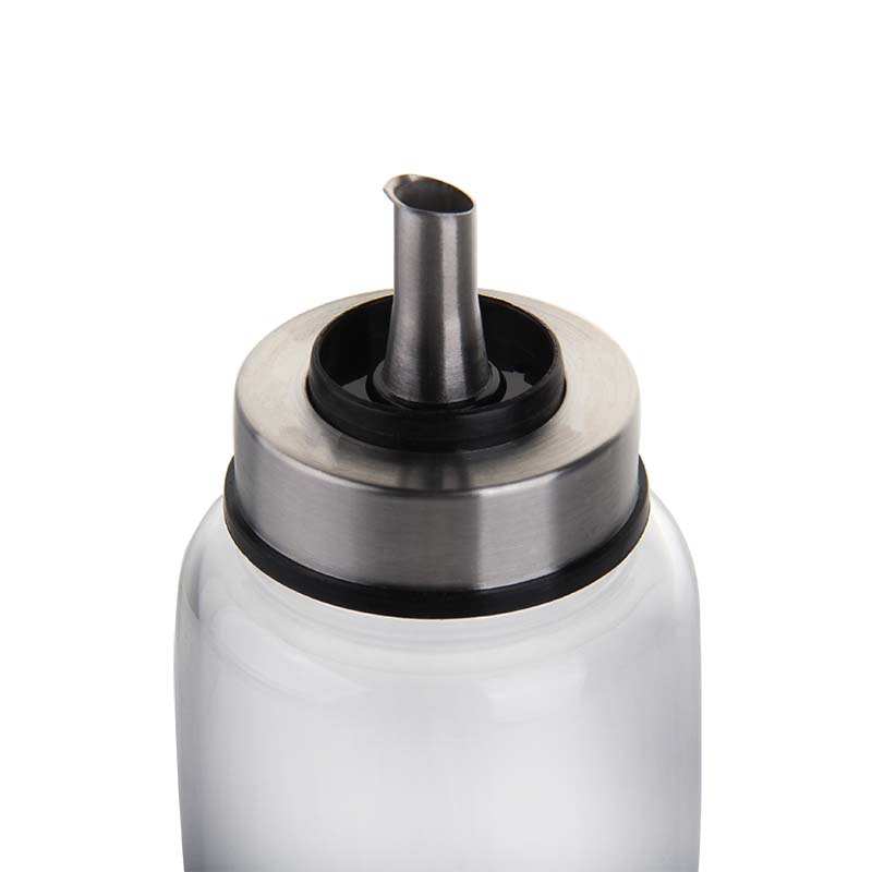 Kitchen stuff 500ml oil bottle vinegar bottle with pour and dust cover
