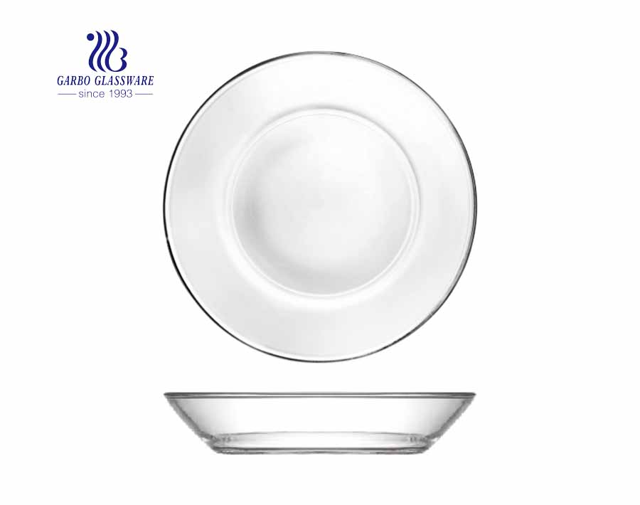 10 Inches  Crystal  Transparent glass plate pyrex dinner plate