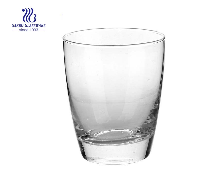 V shape clear transparent glass juice cup