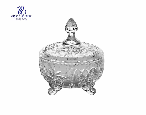 Os frascos de vidro brancos altos da venda 400ml quente alta para o armazenamento home