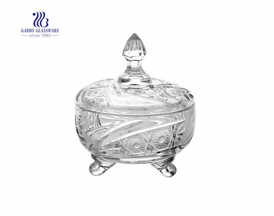 400ml hot sale high white glass candy jars for home storage