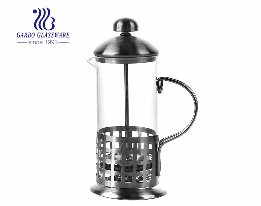 12oz Heat Resistant Glass Coffee Maker for Home and Cafe Use
