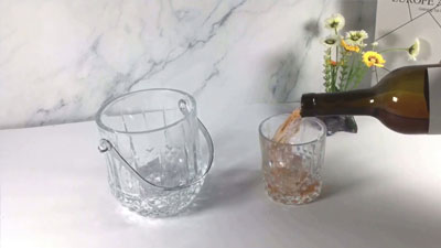 Garbo 7pcs glass ice bucket and cup set