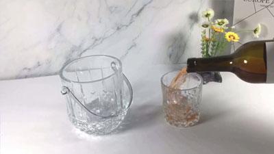 Bộ cốc và xô đá thủy tinh Garbo 7 chiếc
