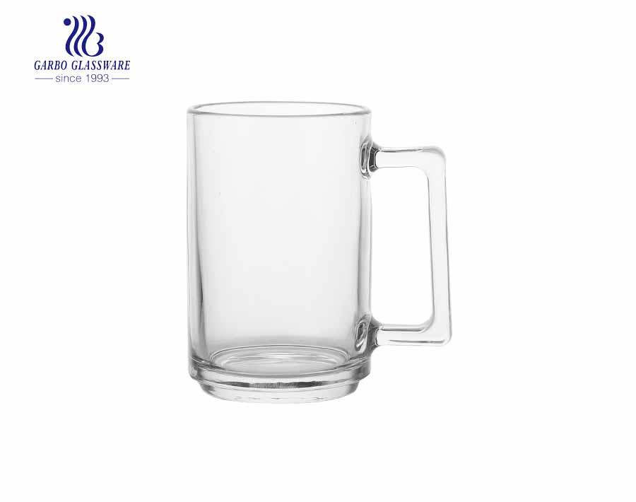 220 ml taza de cerveza con baño de iones con color ámbar bebida personalizada para agua taza de cerveza vaso de vidrio