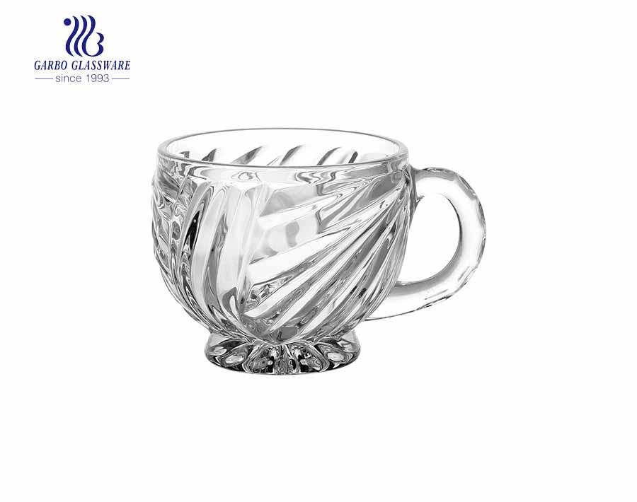 White Coffee Cup With Handle With Custom Printing Cup Set China Opal Glass Tea Mug