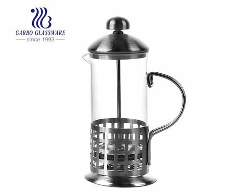 Hitzebeständige 12 Unzen Glas French Press Pot Kaffeemaschine für den Cafe-Gebrauch