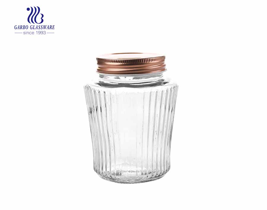 480ml Eco-friendly glass storage jars factory price glass honey jars