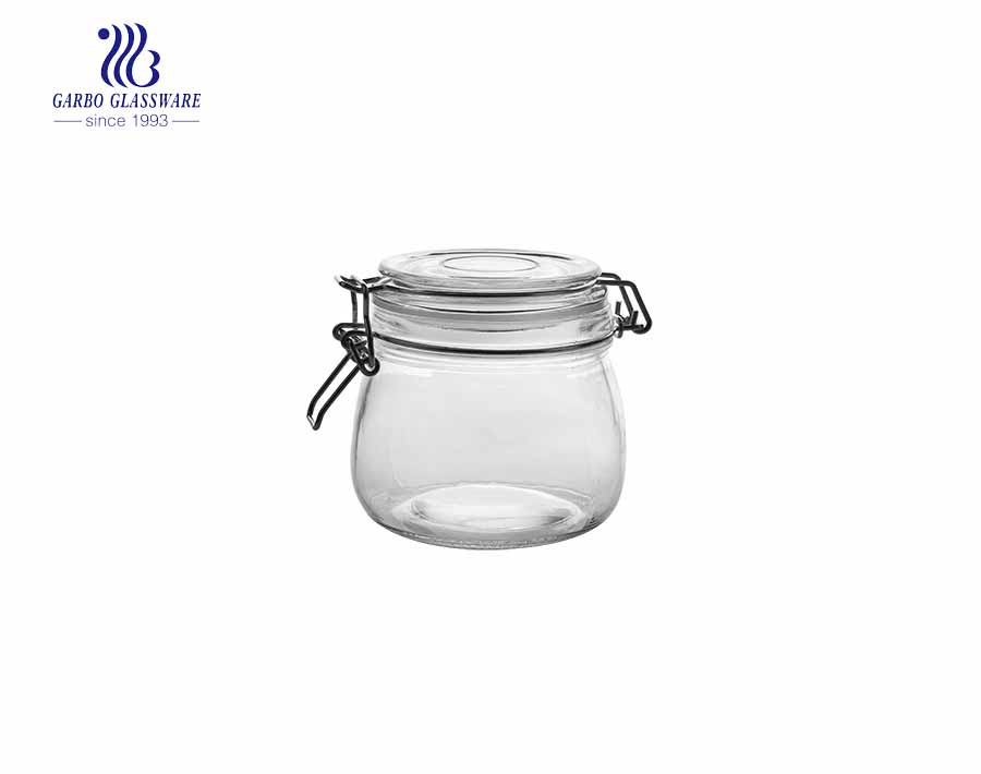480ml High-Grade Large capacity Glass Candy Jar Transparent Decorative Glass Food Jar