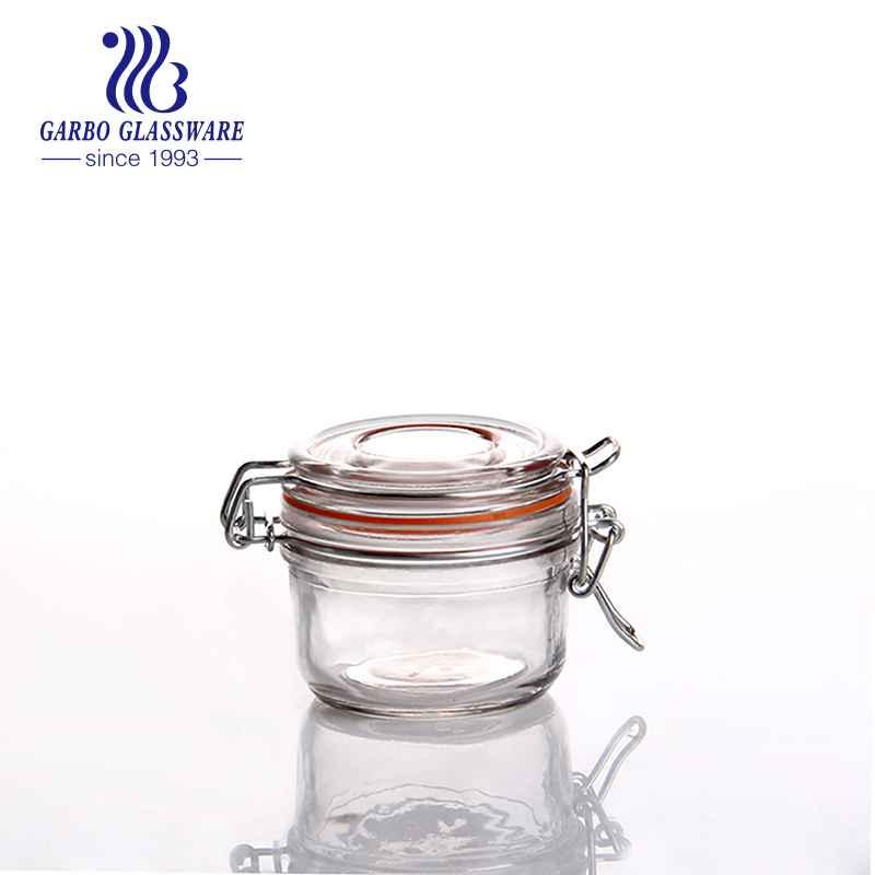 480ml Hochwertiges Glas Candy Jar mit großer Kapazität Transparentes dekoratives Glas Food Jar