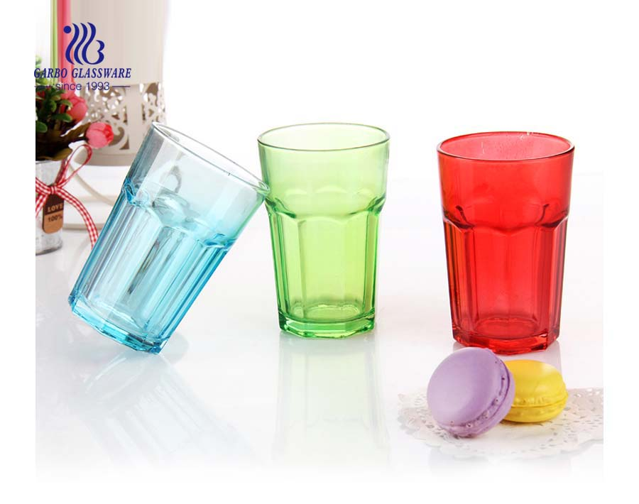 Custom tinted color sprayed color rock glass cup for promotion