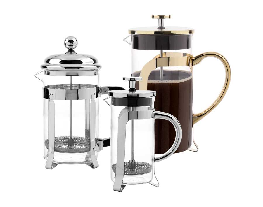 Stainless Steel French Press Coffee Maker Borosilicate Glass Coffee Pitcher