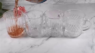 High quality glass mug with different engraved design from GARBO