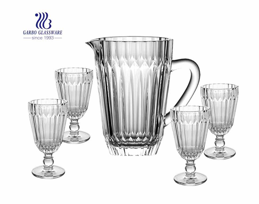 12 PCS copo de vidro de uísque vintage e copo alto em relevo e copo de tiro conjunto de copos