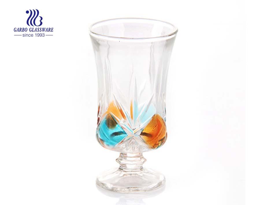 Copos vintage personalizado spray cores decorativas taças de vidro