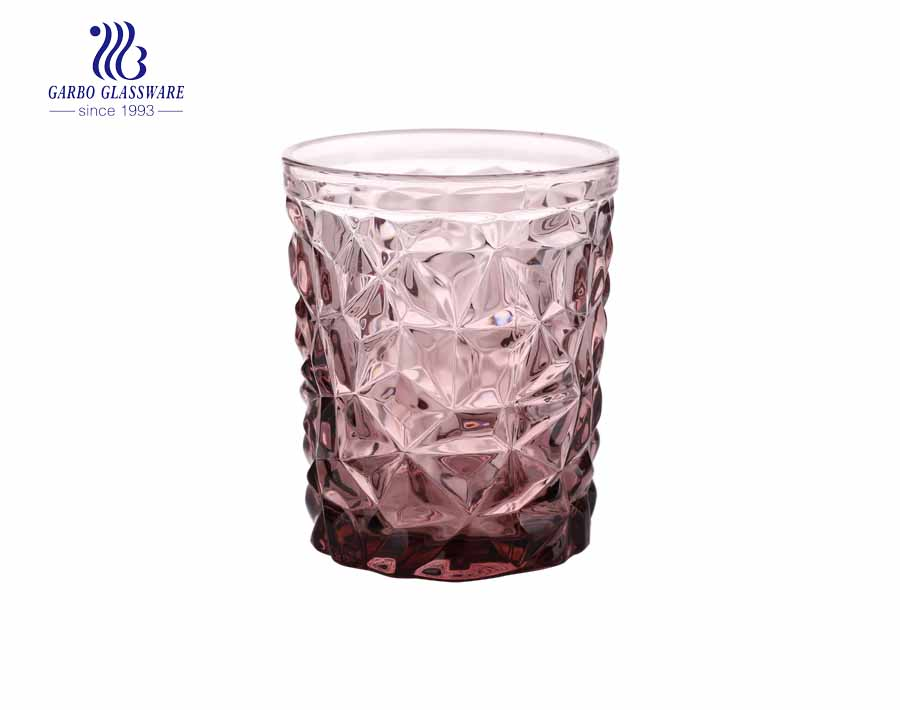 Diamant-Weinkelch 6er-Set von Garbo Glass-Purple Red Farbe