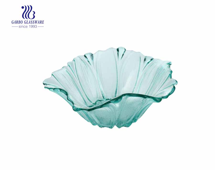 7 inch creative wholesale household use glass fruit dish flower glass fruit plate