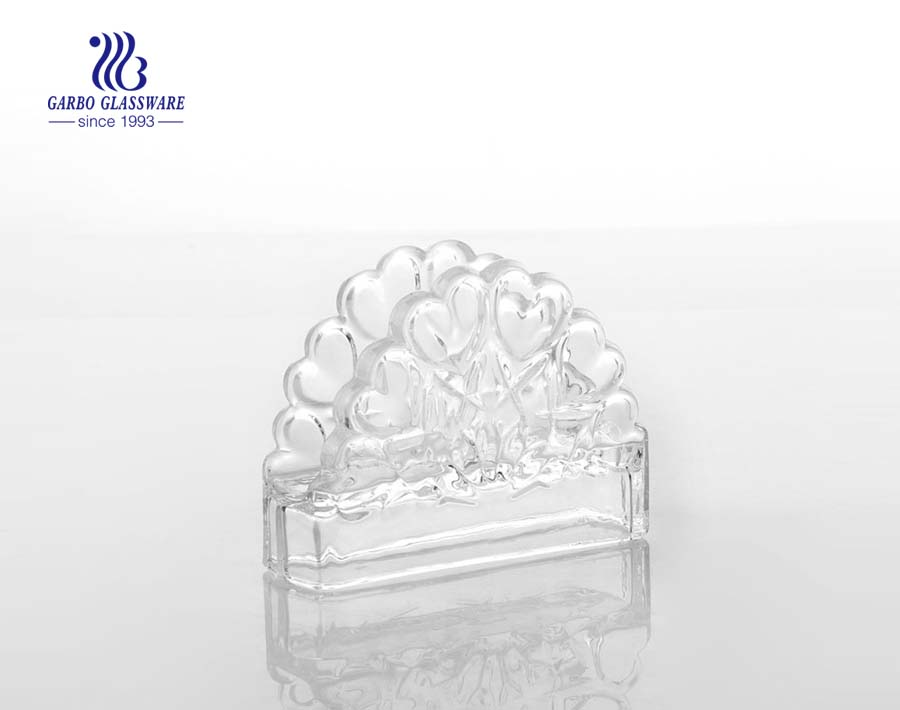 Clear Glass Crystal Napkin Tissue Holder Tableware Decoration for Coffee Store Restaurant Bar Living Room Kitchen