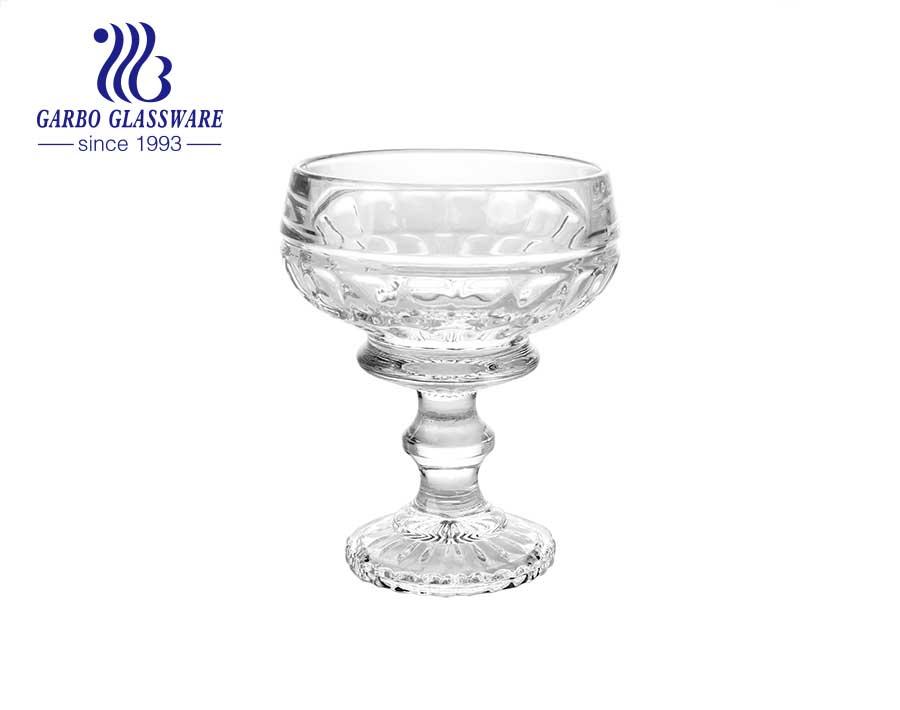 4.57 inch decorative glass fruit bowl cheap factory price glass fruit bowl