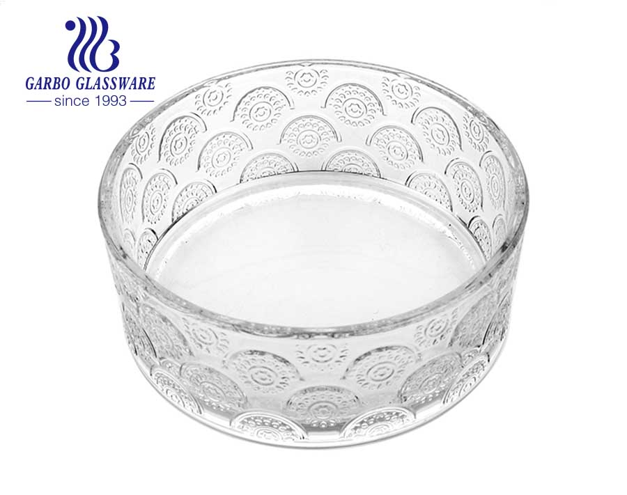 11.69 inch big glass fruit bowl reusablewholesale glass fruit bowl