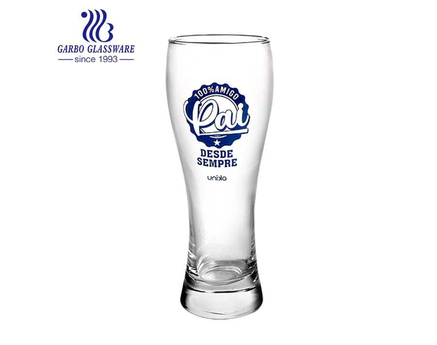Bar de cristal de pub de estilo británico con logo Vaso de vidrio Pilsner para cerveza