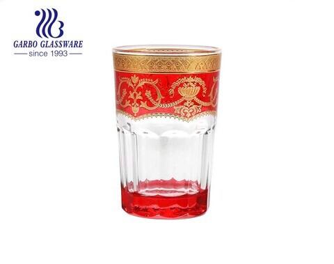 Xícara de chá de vidro galvanizado do norte da África estilo árabe comestível