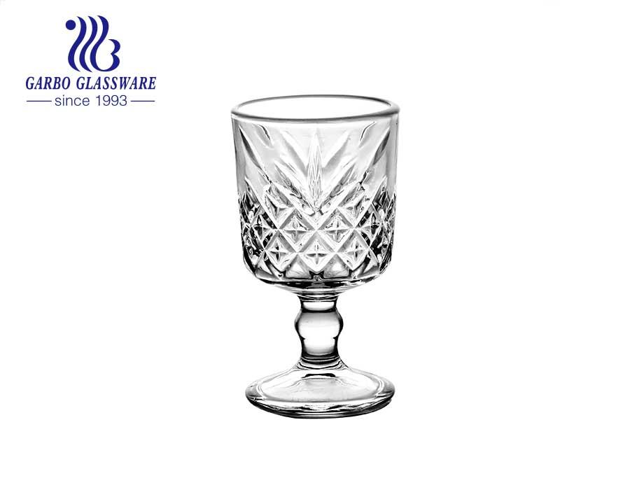 14 Unzen einfarbige Stielglas Glas Infuser benutzerdefinierte Logo Glas Becher