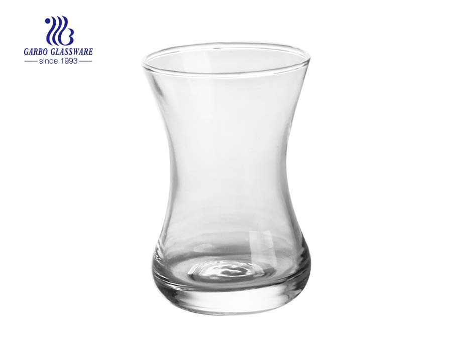 Taza de té transparente de cristal turco Cay