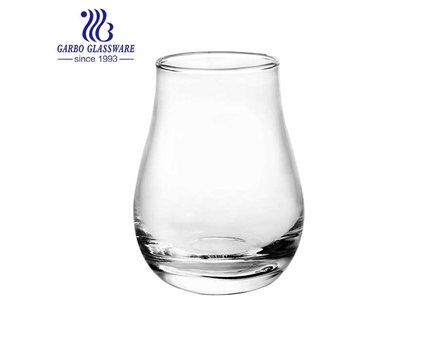Squash shape glass tumbler for juice in stock