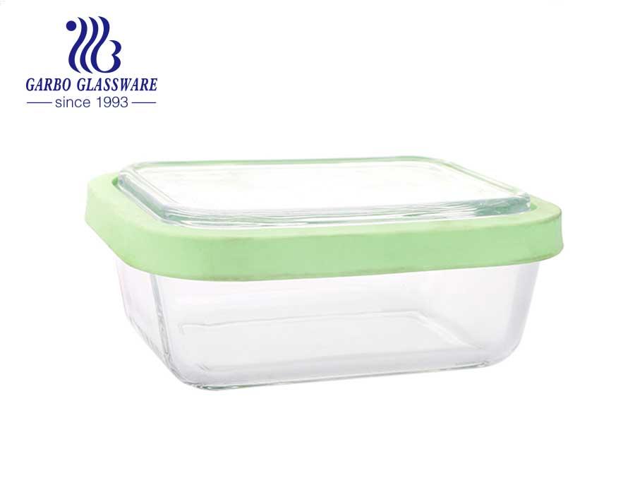 300 ml Quadratmeter Lebensmittelaufbewahrungsbehälter aus Glas Aufbewahrungsbehälter aus Glas mit Deckel