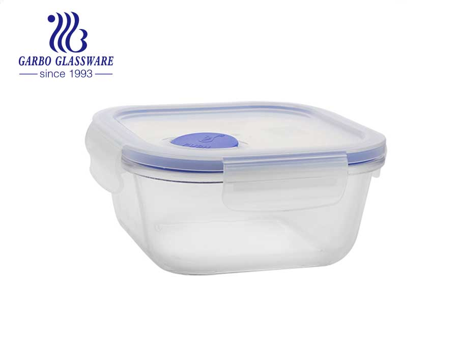 Tempered glass 940ml rectangular Airtight Glass Lunch Boxes