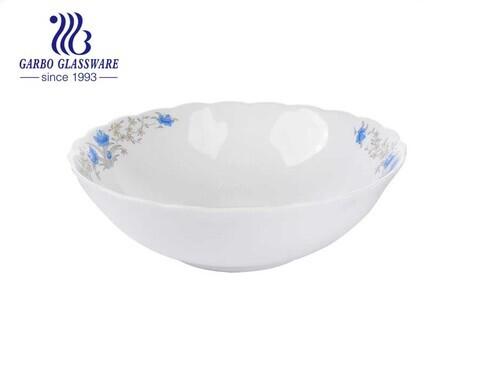 9 Zoll rund weiß Das Geschirr Opal gehärtetes Glas Geschirr Salatschüsseln