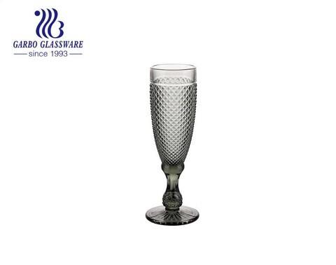 Flautas de champán Trinkware con juego de 6 piezas de color liso con cristalería