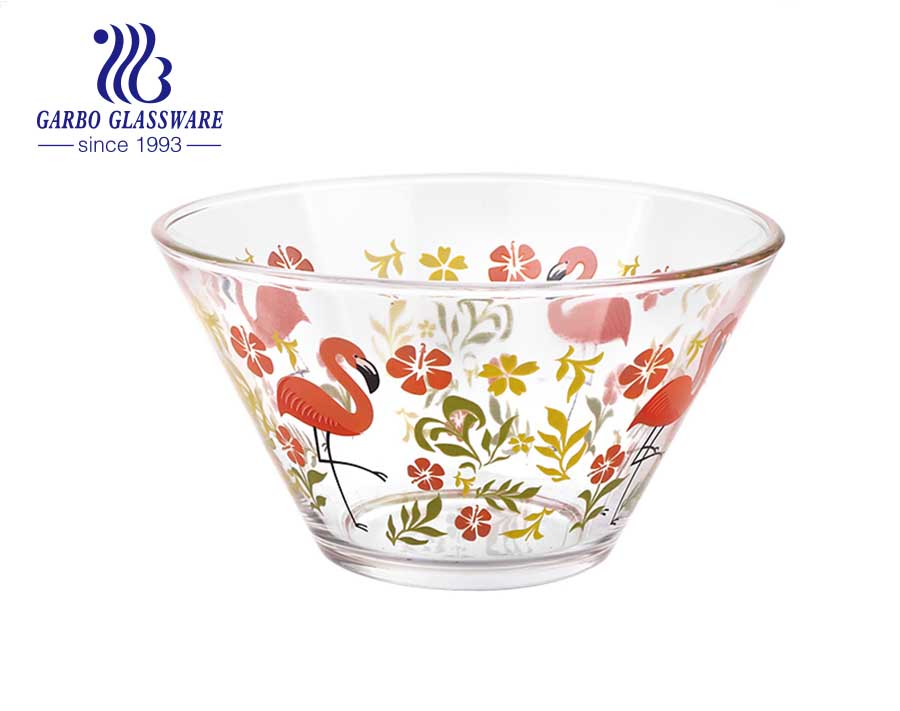 Machine made high quality transparent round ion plating glass bowl high temperature glass bowl