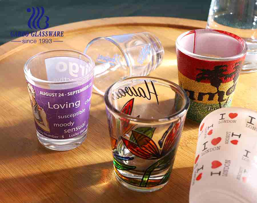 50ml unique designs shot glasses Christmas souvenir festival gifts shot glasses
