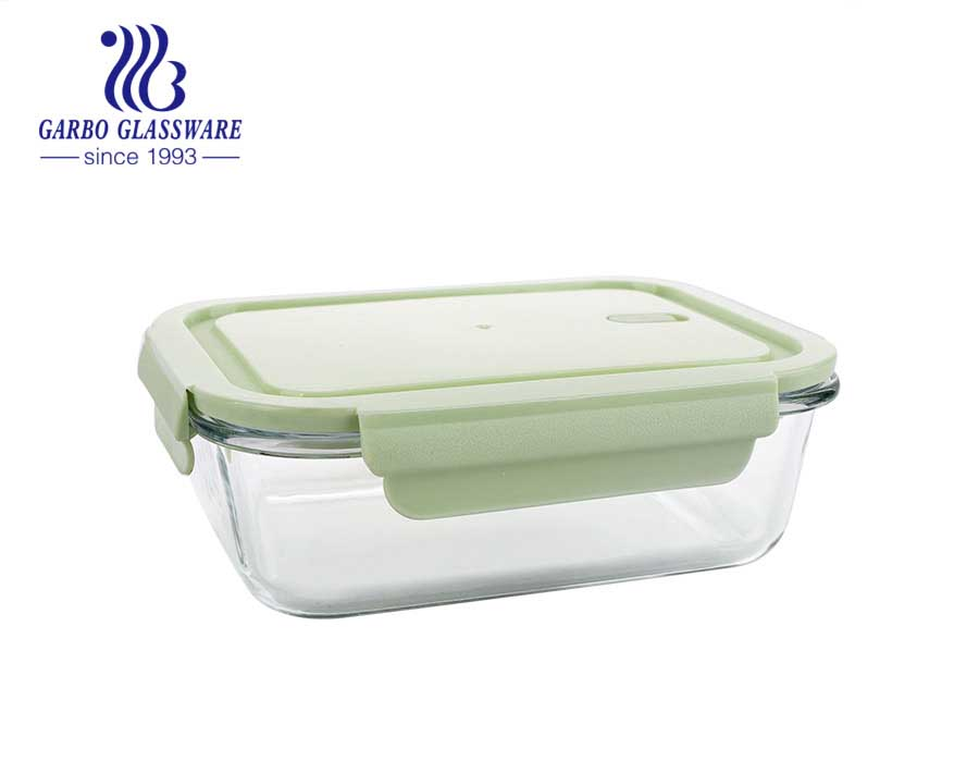 320ml square glass food containers with silicone sealed lids