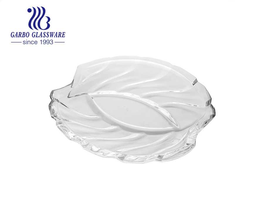 Placa de vidrio de diseño especial de 13.5 pulgadas con material de vidrio blanco alto