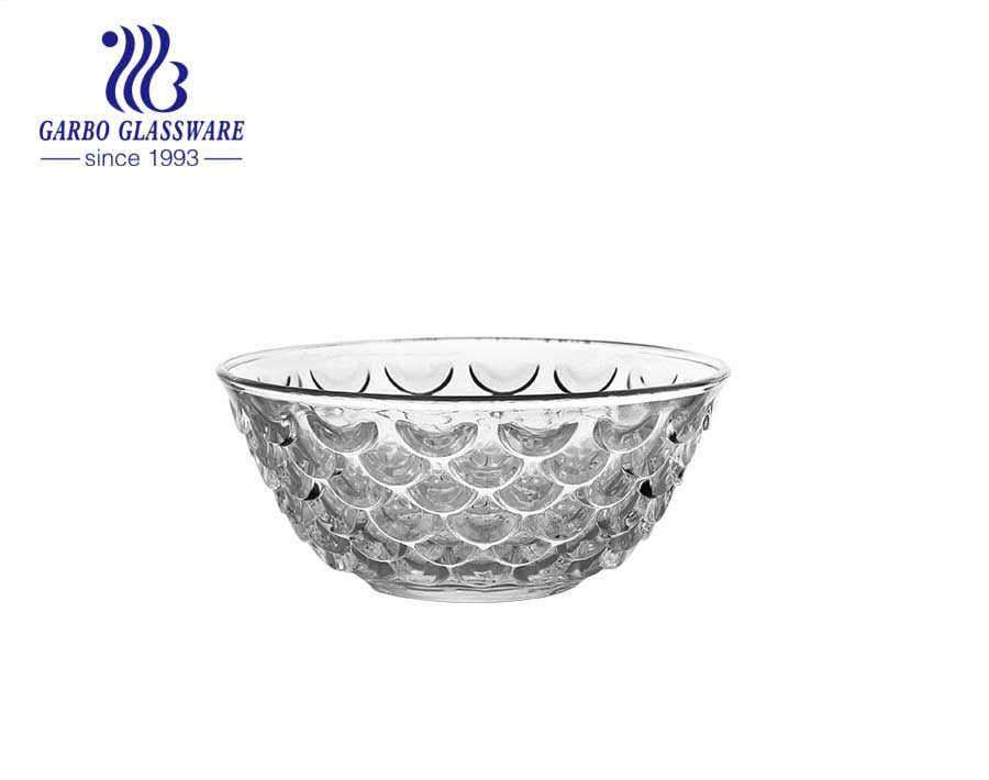 5inch Wholesale machine-made engraved sunflower pattern glass bowl classical glass bowl with factory price