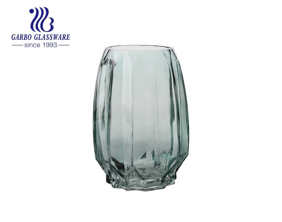 Vase Glass, Purple Glass Vase Single Flower Vase Decorative Vintage Flower Vase for Wedding Home and Office Decor