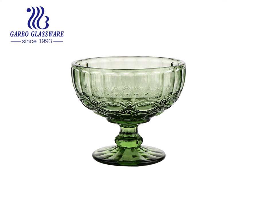 Geformte Glas-Eisbecher in Bootsform zum Nachtisch Allzweck-Servierschalen Vintage Soda Glass