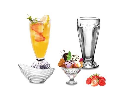 Ice Cream Sundae Cups| Ice Cream Float Cups Break Resistant Parlor | Ice Cream Soda - Ice Cream Dessert Cups |12.5Oz | Dessert Bowls for Trifle Pudding Parfait