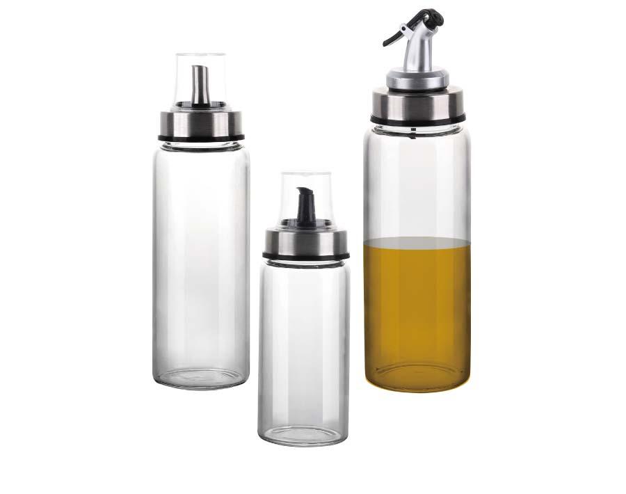 Wasserflaschen aus Borosilikatglas 17.6 Unzen, Edelstahldeckel, langlebig, riss- und hitzebeständig, am besten als wiederverwendbare Trinkflasche, Saucenglas, Saftgetränkebehälter
