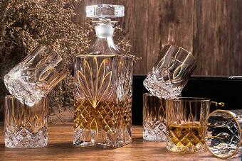 What is so special about Garbo's decanter?