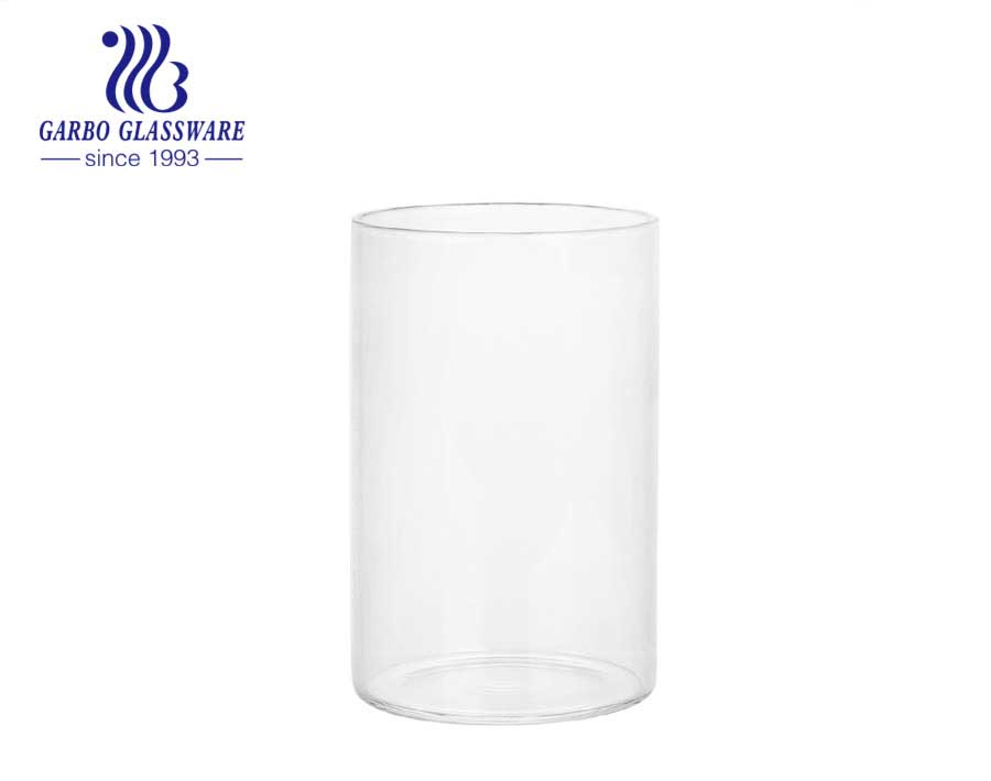 12OZ custom logo best selling Glassware wholesale household use borosilicate glass cup