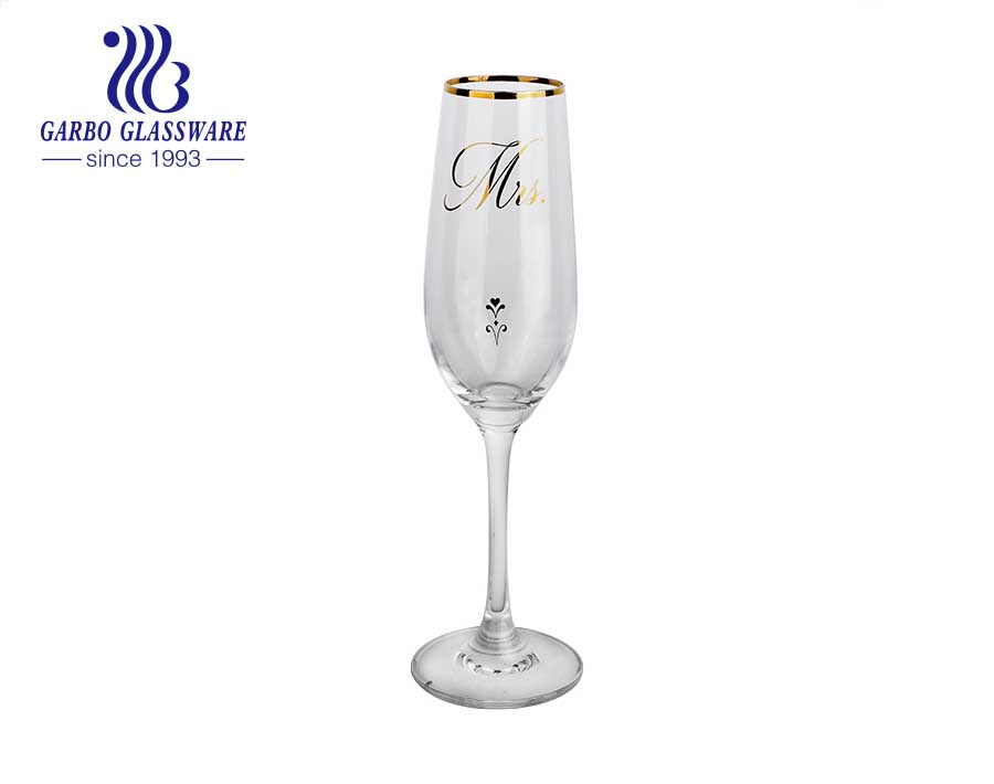 8.66oz factory price newest style wine glass for wedding promotional glass goblet