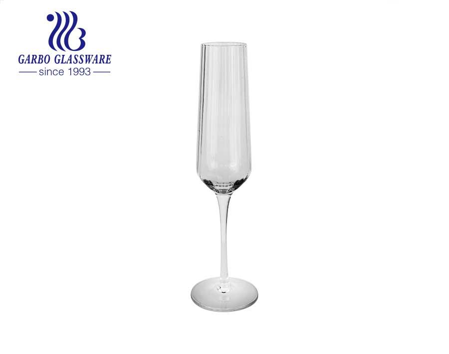 8.66 Unzen Fabrikpreis neuesten Stil Weinglas für Hochzeit Werbeglas Becher