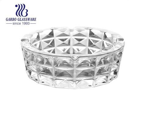 Diamant Design Kristallklares Gravurmuster Mittelgroßer Kristallglas-Aschenbecher für Geschenke und Dekorationen